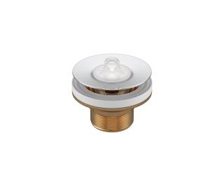 Válvula de escoamento com tampa plástica para lavatório cuba e bidê