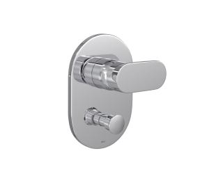 Misturador monocomando 4 vias de chuveiro com desviador para banheira
