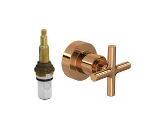 Acabamento para registro de pressão até 1 com mecanismo 1/2 volta