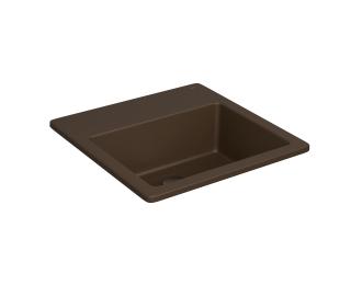 Cuba de sobrepor quadrada com mesa