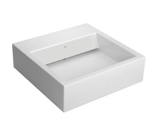 Cuba de apoio quadrada com mesa e válvula oculta